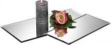 6er SET Tischspiegel, Spiegelplatte, Deko Spiegel, 40x20cm, Glas, Sandra Rich (44,95 EUR / SET)