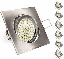 6er SET Ultraflacher 3,5 W LED Einbaustrahler