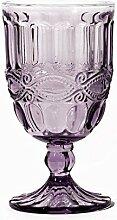 6er Set Weinkelch SOLANGE, violett, 250 ml., mundgeblasen von TOGNANA