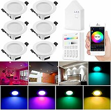 6er set Wlan Bluetooth 5W LED Einbaustrahler
