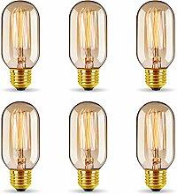 6er Vintage Edison LED Glühbirne, GreenSun LED