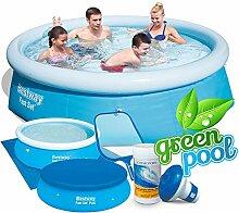 6in1 Set Green Pool Quick-up Gartenpool 244 x 66 cm Bestway 57265