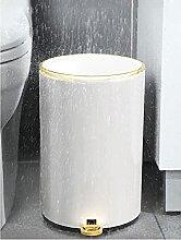 6l - Badezimmer MüLleimer Gold Kosmetikeimer