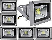 6pcs 20W LED Strahler Fluter,ALPHA DIMA 20W SMD