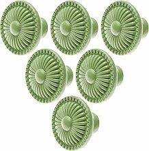 6pcs Grün Einfaches Rund Zink-legierung knopf