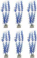 6pcs Künstliche Wasser Wasser Gras Pflanze Aquarium Landschafts Dekor