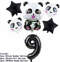 6pcs nette Panda-Folienballon Happy Birthday Party