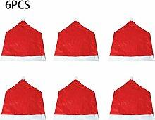 6pcs Weihnachten Stuhlabdeckung Weihnachtsmann Cap