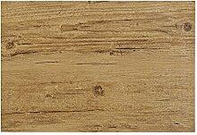 6teiliges hochwertiges Platzset 6er in Eiche braun Holzoptik Tischset Platzdeckchen Platzdecke Dekoration Küchendeko Tischmatte