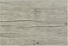 6teiliges hochwertiges Platzset 6er in Eiche grau Holzoptik Tischset Platzdeckchen Platzdecke Dekoration Küchendeko Tischmatte