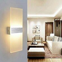 6W LED Wandleuchte Acryl Wandlampe Warmweiß