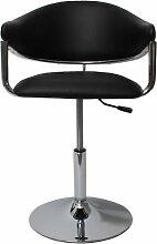 6x Barhocker Lounge Stuhl Hochstuhl Dema ~ schwarz