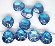 6x Crystal Grau Blau Glanz Klar Briolette Pear