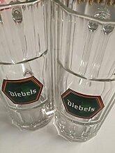 6x Diebels Bier Humpen Glas Gläser 0,5l
