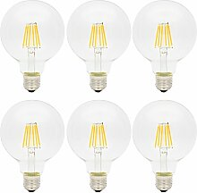 6x E27 G95 Edison Vintage 6W LED Glühfaden