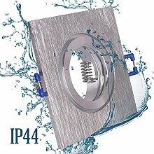 6x Einbaustrahler Bad IP44 mit GU10 Fassung ECKIG