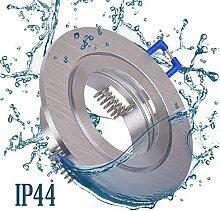 6x Einbaustrahler Bad IP44 mit GU10 Fassung RUND