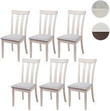 6x Esszimmerstuhl HWC-G46, Küchenstuhl Stuhl,