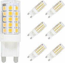 6X G9 Dimmbar LED Lampe Leuchtmittel,5W Ersatz