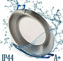6x IP44 LED Bad Einbaustrahler 230V sehr flach
