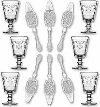 6X La Rochere Absinth Glas Versailles 200ml + 6X
