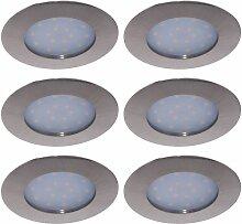 6x LED Einbau Lampen Decken Leuchten Arbeits