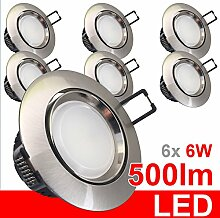 6x LED Einbaustrahler 230V Einbauleuchte