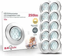 6x LED Einbaustrahler schwenkbar weiß GU10