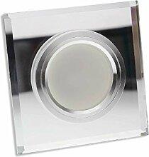 6x LED Einbaustrahler Set aus Glas transparent -