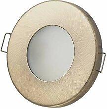 6x LED Einbaustrahler Set Bad Gold/Messing 5W