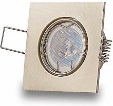 6x LED Einbaustrahler Set Edelstahl gebürstet