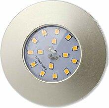 6x LED Einbaustrahler Set rund silber 5W warmweiß