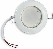 6x LED Einbaustrahler Set rund - weiß 7 Watt