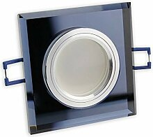6x LED Einbaustrahler Set schwarz - eckig 5W