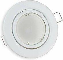 6x LED Einbaustrahler Set weiß rund 7 Watt