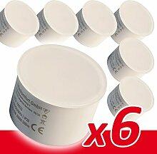 6x LED Modul 230V 6W für Einbaustrahler warmweiß
