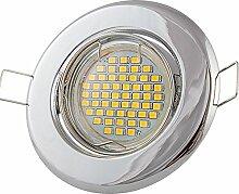 6x Lu-Mi Einbaustrahler GU10 LED 3W SMD Warmweiß