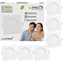 6x Lumare LED Einbauspot 6W IP44 extra flach 230V