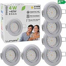 6x Lumare LED Einbaustrahler 4W 400 Lumen IP44