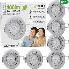 6x Lumare LED Einbaustrahler 4W 400 Lumen IP44 nur