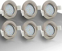 6x Lumare LED Einbaustrahler 4W 400lm 230V IP44