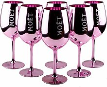 6X Moet & Chandon Imperial Gläser Echtglas Pink