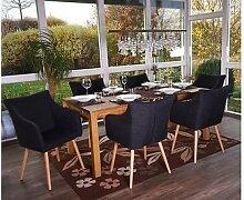 6x Stuhl 50er Jahre Sessel dunkelgrau Esszimmer