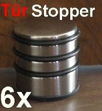 6x Türstopper, chrom Tür Stopper, Türpuffer Hoch ca. 1,1KG schwer (LHS)