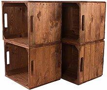 6X Vintage-Möbel 24 Holzkiste Used für Kallax
