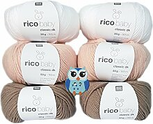6x50 Gramm Rico Baby Classic DK 50% Polyacryl, 50%