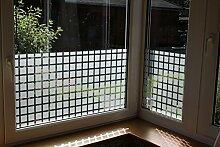 7,23€/m² Fensterfolie Sonnenschutz Wintergarten UV Sichtschutzfolie Spiegelfolie gemusterte Deko Folie (Fensterbreitex Fensterhöhe 1m x 152cm Quarder)