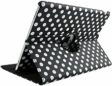 7,9 Zoll iPad Mini 2 Etui, TechCode 360 Grad Rotation Ständer PU Leder Tasche Schutzhülle Folio Weiche Gummi Hülle Case Cover Tasche für Apple iPad Mini 1/2/3 7,9 zoll (iPad Mini 1/2/3, Schwarz)