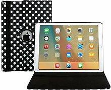 7,9 Zoll Mini 4 Tasche iPad mini 4 Generation Book Case, TechCode 360 Grad Rotation Ständer PU Leder Tasche Schutzhülle Folio Weiche Gummi Hülle für Apple iPad Mini 4 7.9 Inch (iPad Mini 4, Schwarz)