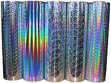 (7,94 €/m²) Hologramm Plotterfolie Glitzerfolie